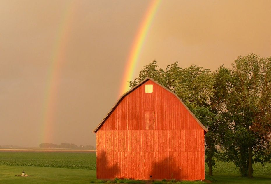 See pictures of double rainbows, multiple rainbows, and monochrome rainbows--plus, Evelyn shares rainbow facts. See weather blog on Almanac.com.