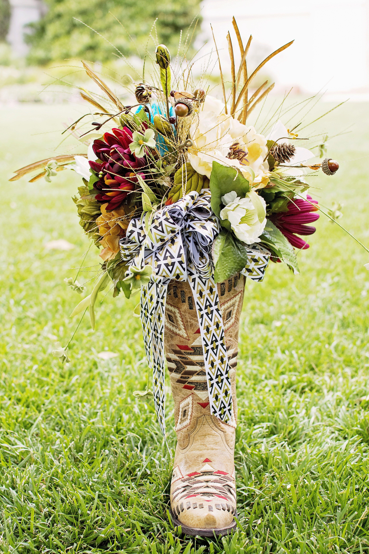 St George Wedding Bouquet Boots Lds Temple Wedding Native