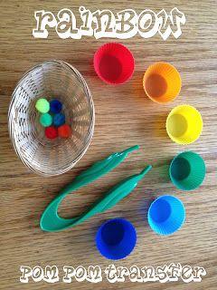 Rainbow Color Pom Pom Transfer