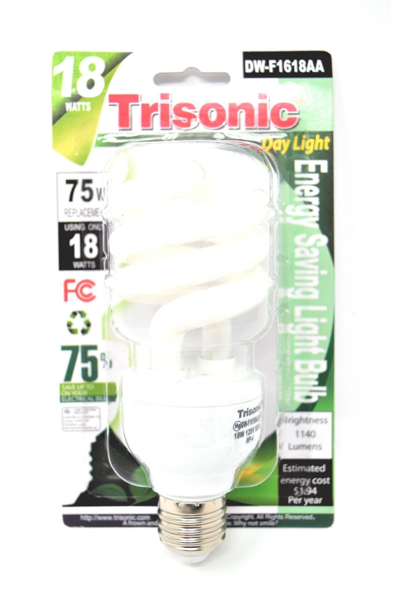 Trisonic 18 Watts Day Light Energy Saving Light Bulb ...