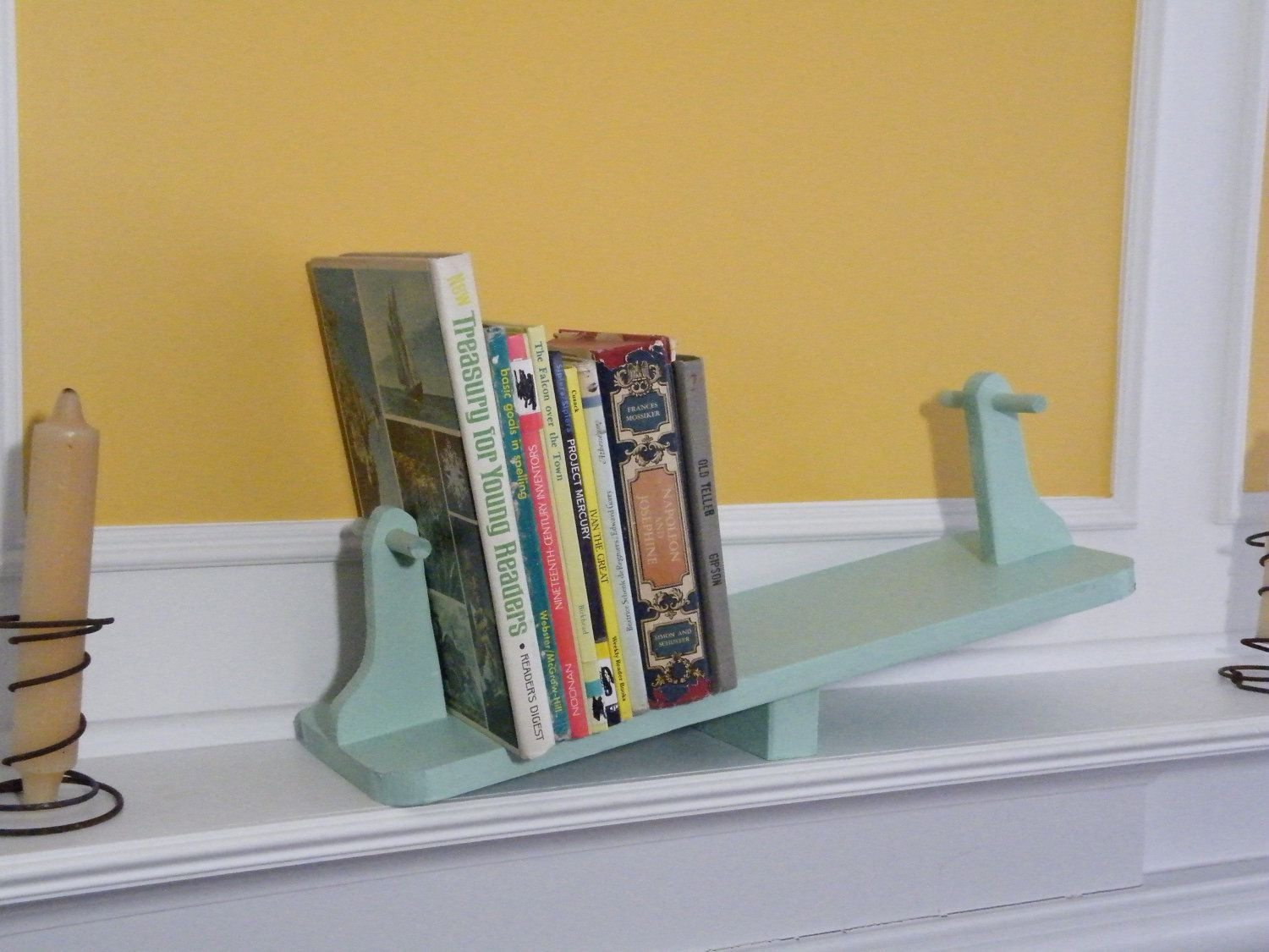 Been Looking For Bookends For The Baby S Room But This Is Way Cooler Bookends For Nursery Bookend 62 00 Creative Bookshelves Bright Nursery Decor Decor