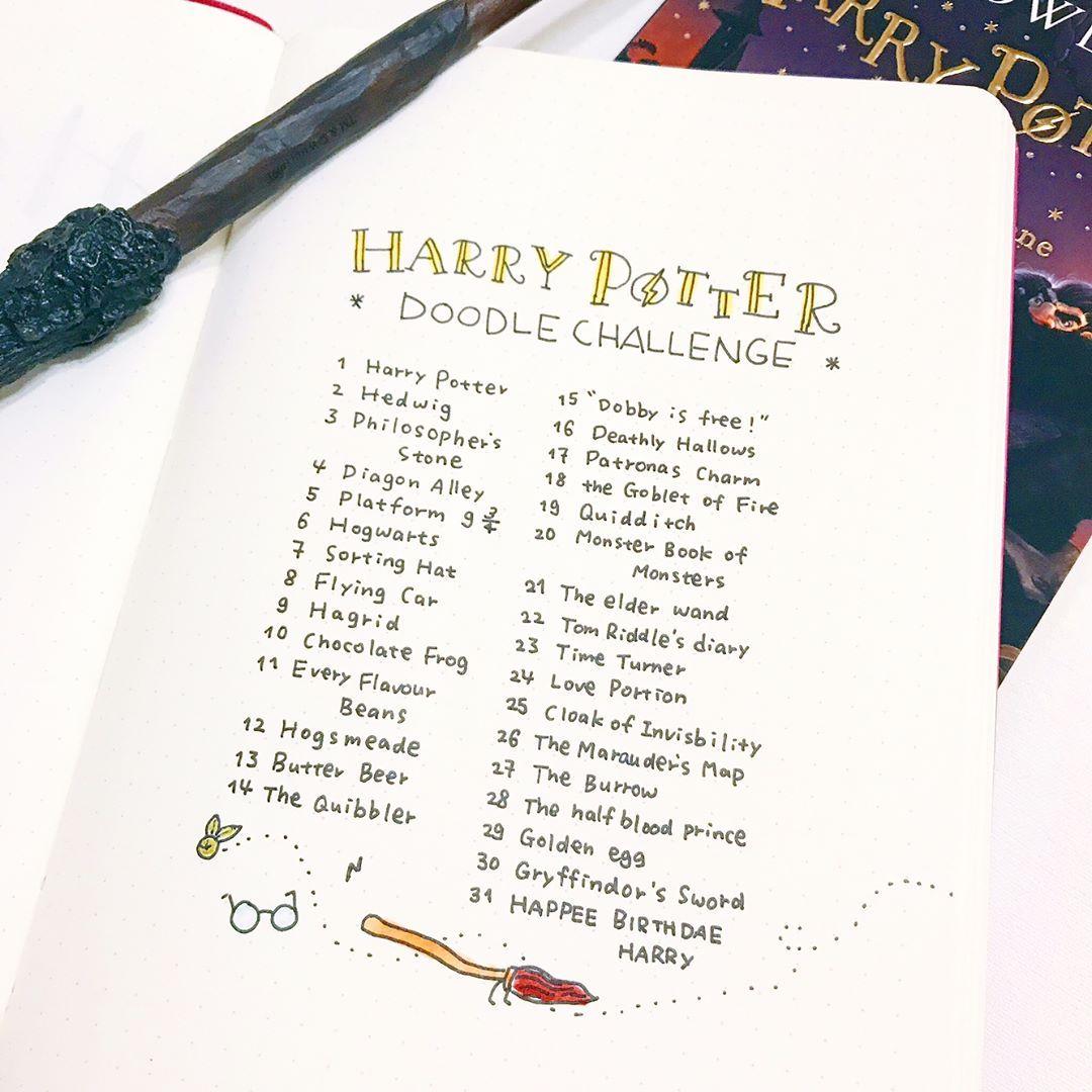 Depuis que le 26 juin était le 20e anniversaire de Harry Potter, je suis d'humeur geek Harry Potter. Et je n'ai pas pu trouver un défi de doodle exactement ce que je voulais ...