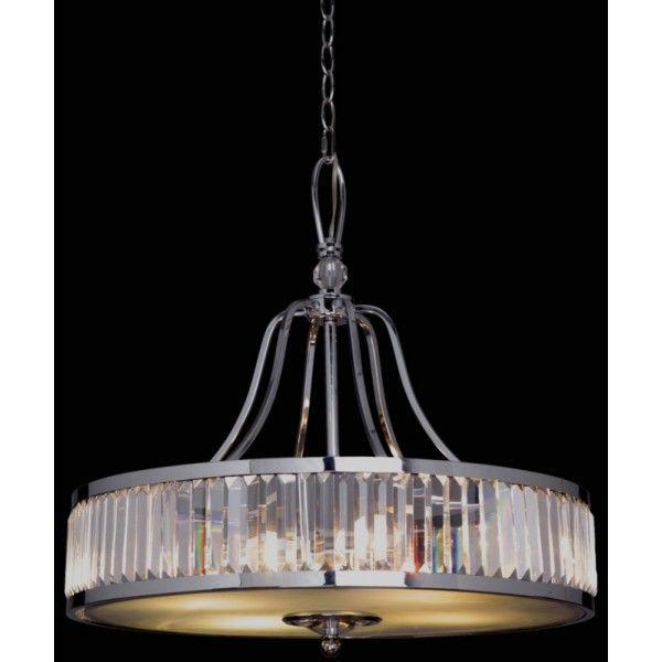 Art Deco Chandelier Excelsior 4 Light Crystal Pendant Chrome