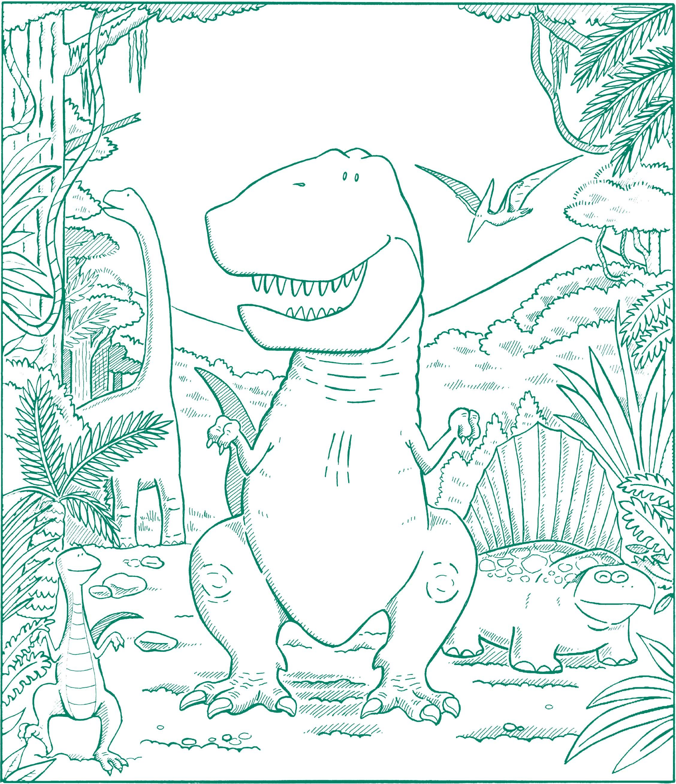 Creation dinosaur coloring pages - Dinosaur Coloring Page
