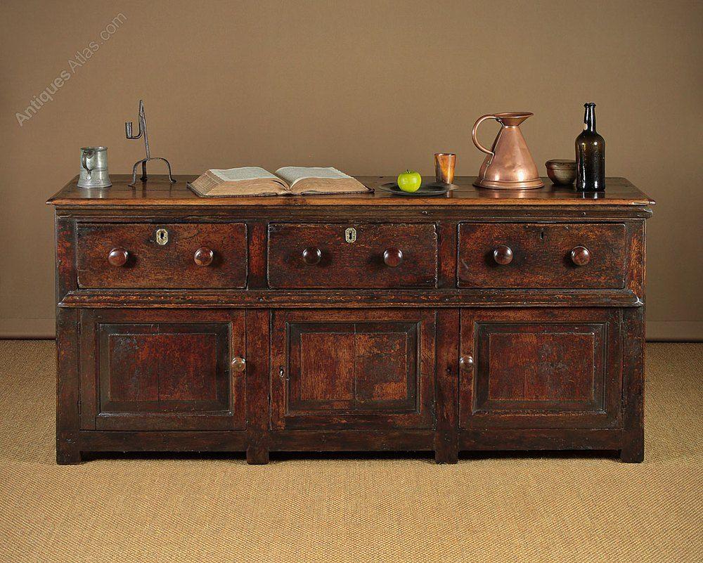18th C Oak Welsh Dresser Base 1750