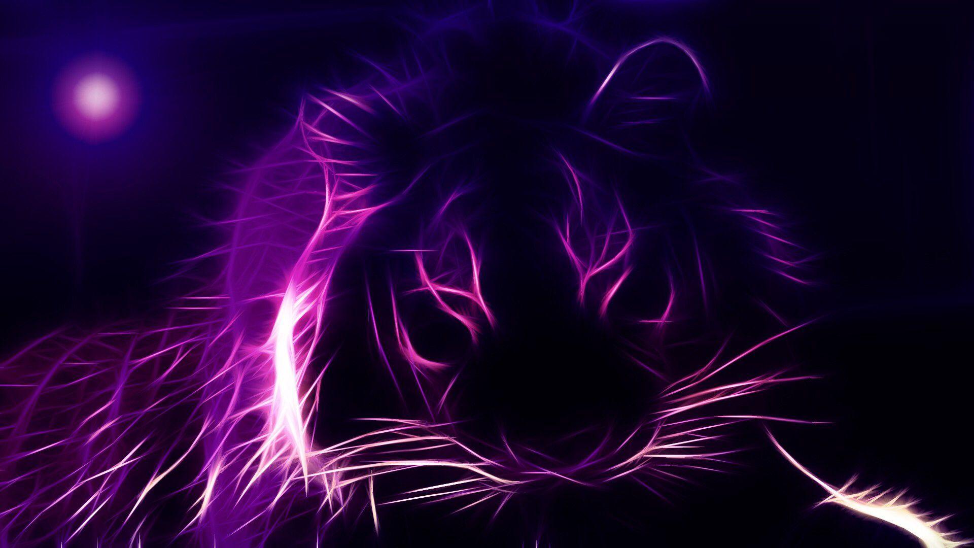 Purple Tiger Awesome Purple Cat Purple Wallpaper Purple