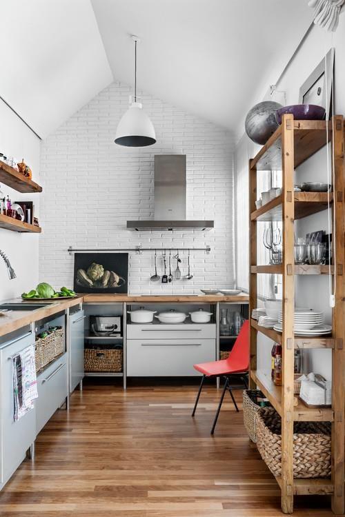 By Home 매거진 원룸이나 작은 아파트는 주방이 크지 않기 때문에 수납공간을 만드는 것이 무엇보다 아름다운부엌 부엌리모델링 부엌 디자인