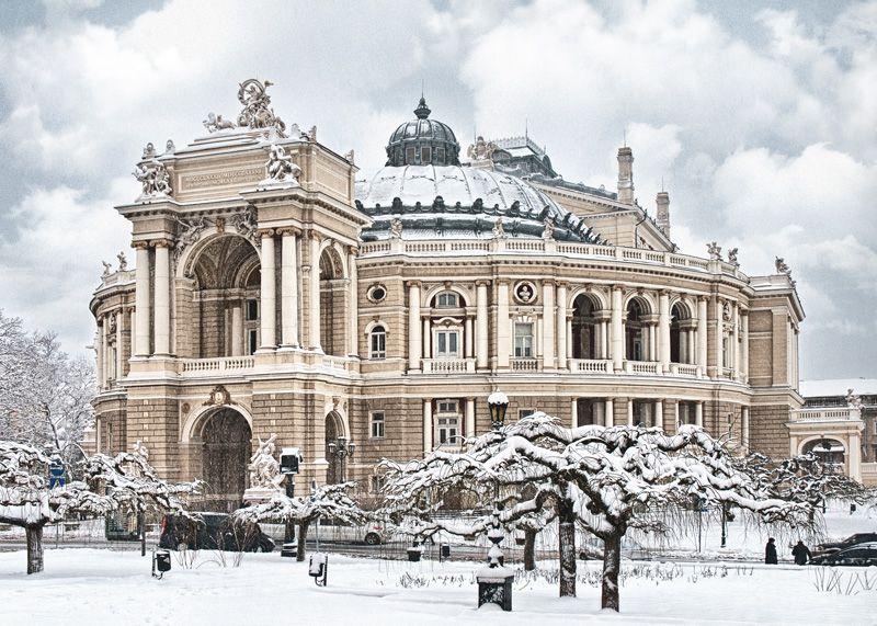Картинки по запросу акварель одесса оперный театр 19 век ...