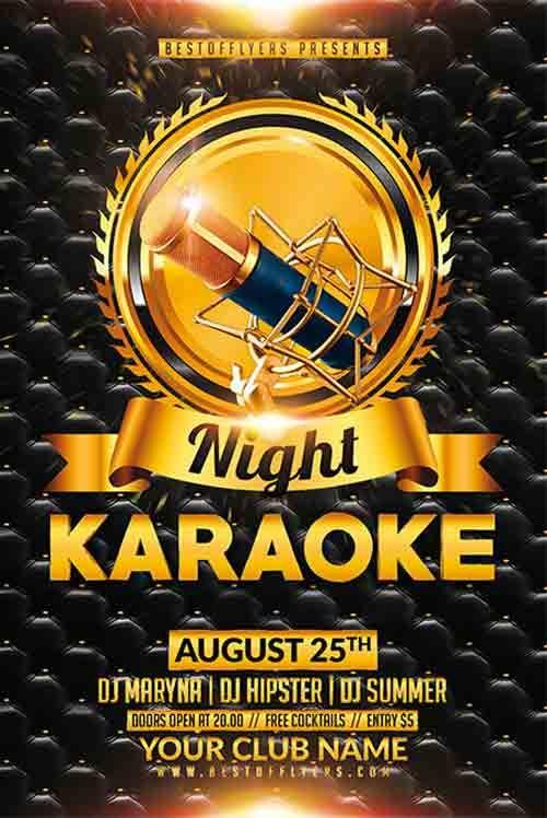 Karaoke Night Free Flyer Template  HttpFreepsdflyerCom