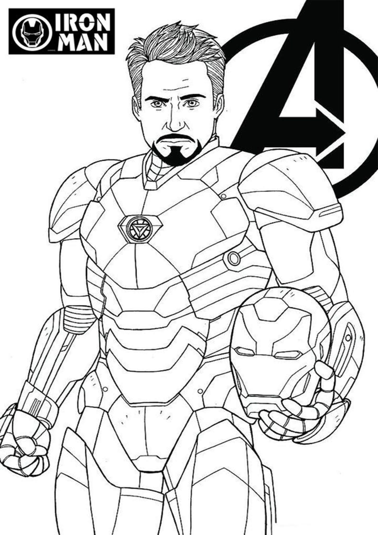 Free Easy To Print Iron Man Coloring Pages Superhelden Malvorlagen Iron Man Cartoon Wenn Du Mal Buch