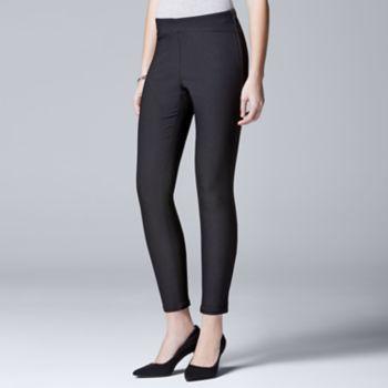 9fe85fbccb Women's Simply Vera Vera Wang City Black Twill Pants | My Style ...