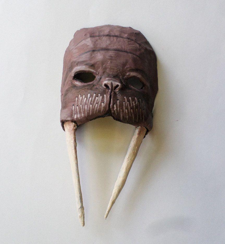 walrus mask in unique mask sea creature paper