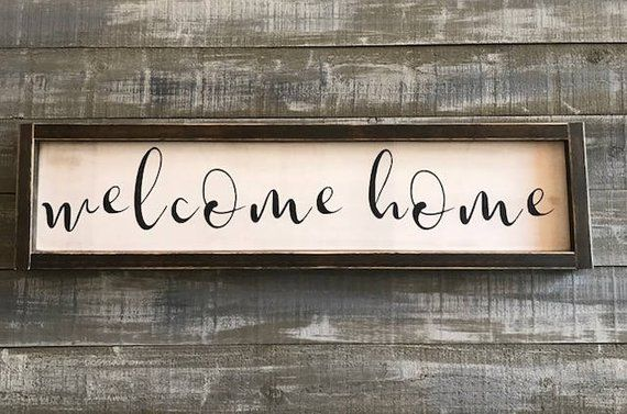 Welcome Home Sign Wood Signs Decor Rustic Farmhouse Wall Hangings