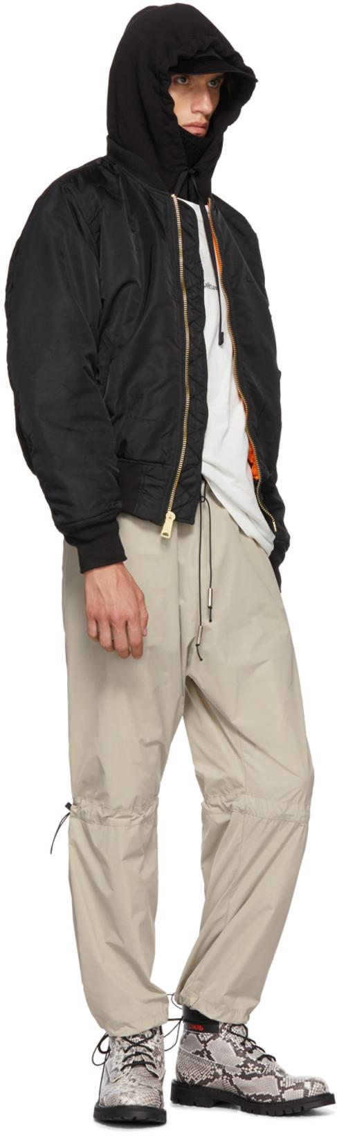 From Ssense S Closet Alyx Heronpreston Bomber Jacket Heron Preston Fashion Store [ 1640 x 487 Pixel ]