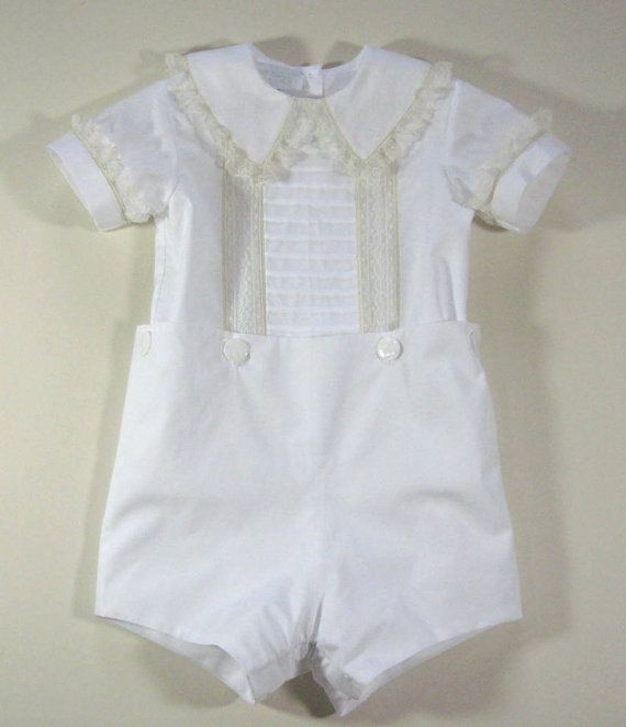 Boys Heirloom Tucked Button-on Suit | Pinterest | Etsy, Babies and ...