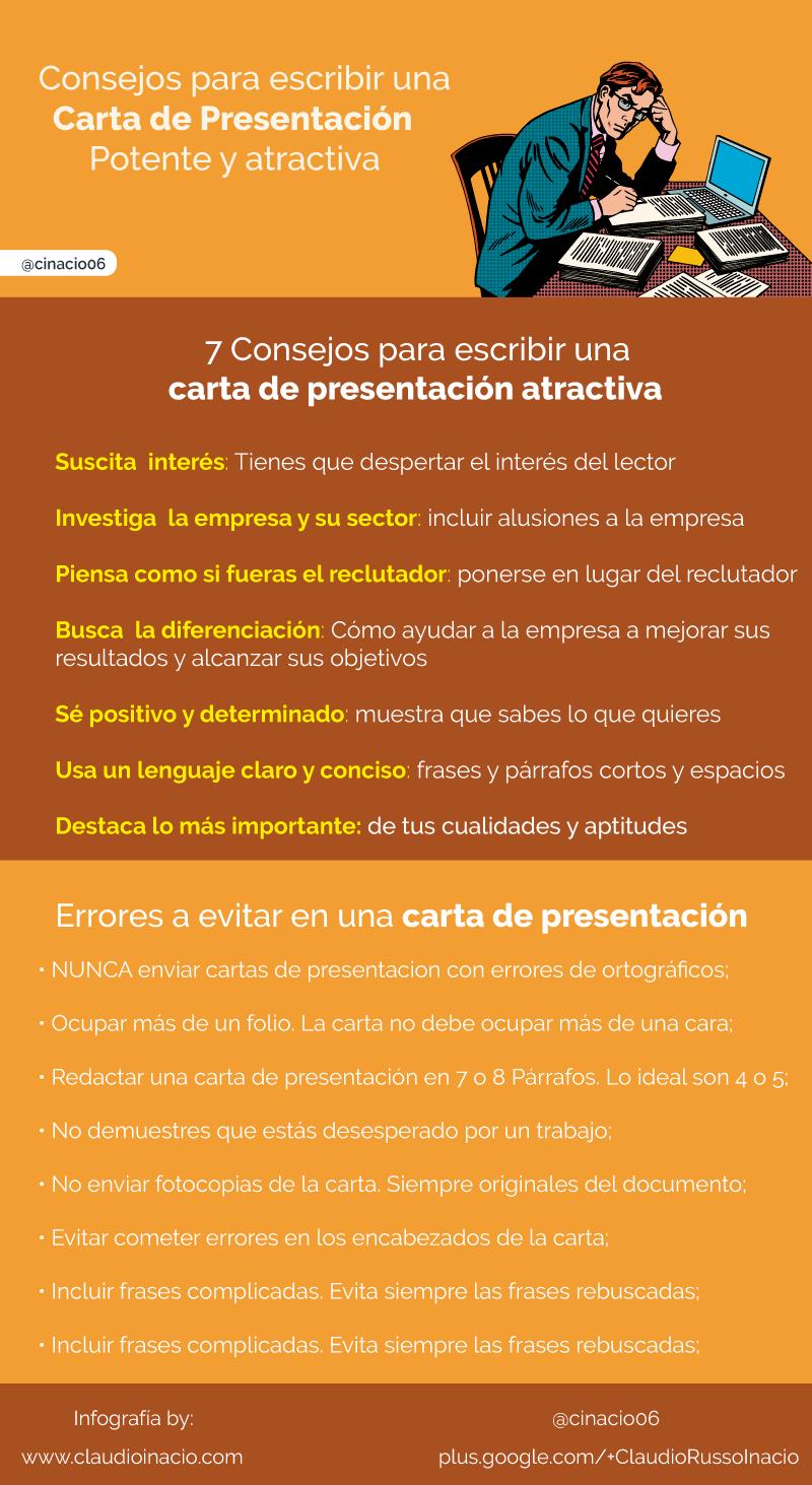Consejos para escribir una Carta de Presentación #infografia ...