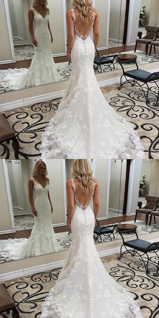 Designer Brautkleid Meerjungfrau | Hochzeitskleider Mit Spitze Rückenfrei