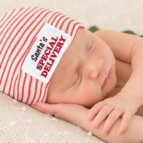 26a426c8794 Santa s Special Delivery Newborn Hospital Hat for Christmas Newborns Newborn  Christmas