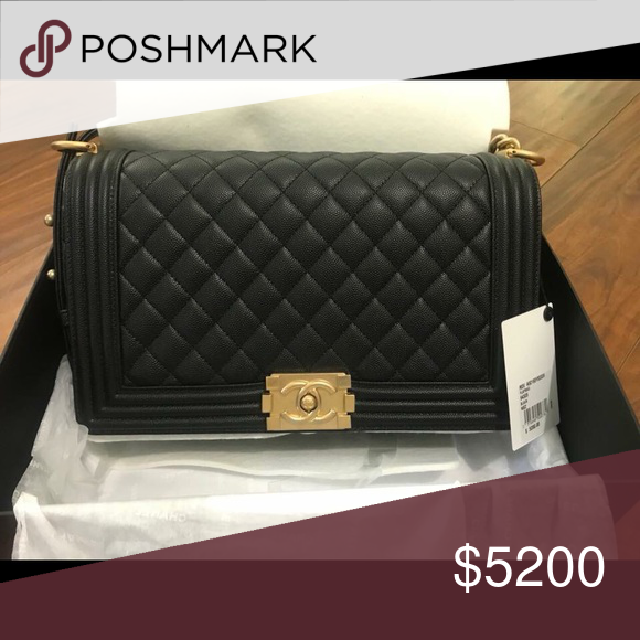 460b5fc78b2669 I'm selling AUTHENTIC Chanel boy flap bag in size NEW MEDIUM, black caviar  leather with gold hardware. Will come with sales tag, authenticity card, dust  bag ...
