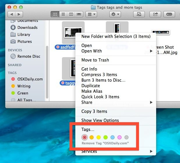 Removing Tags from Files & Folders in OS X Mavericks | Apple