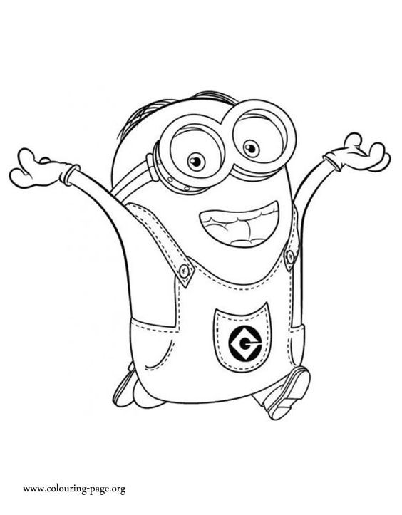 Dave Is An Intelligent And Funny Minion Have Fun Coloring This Free Printable Minions Movie Sheet
