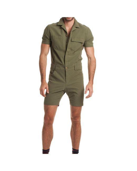 5b53b9782a Mr Turk | Green Levan Short Jumpsuit for Men | Lyst | Jumpsuit and ...
