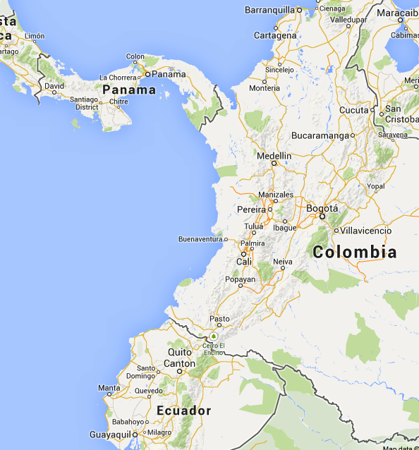 This Is An Example Of The Relative Location Of Colombia Location