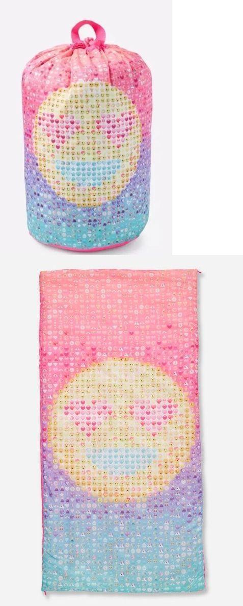 Backpacks 57917 Justice Emoji Sleeping Bag Girls Sleepovers Tween New Cute BUY IT