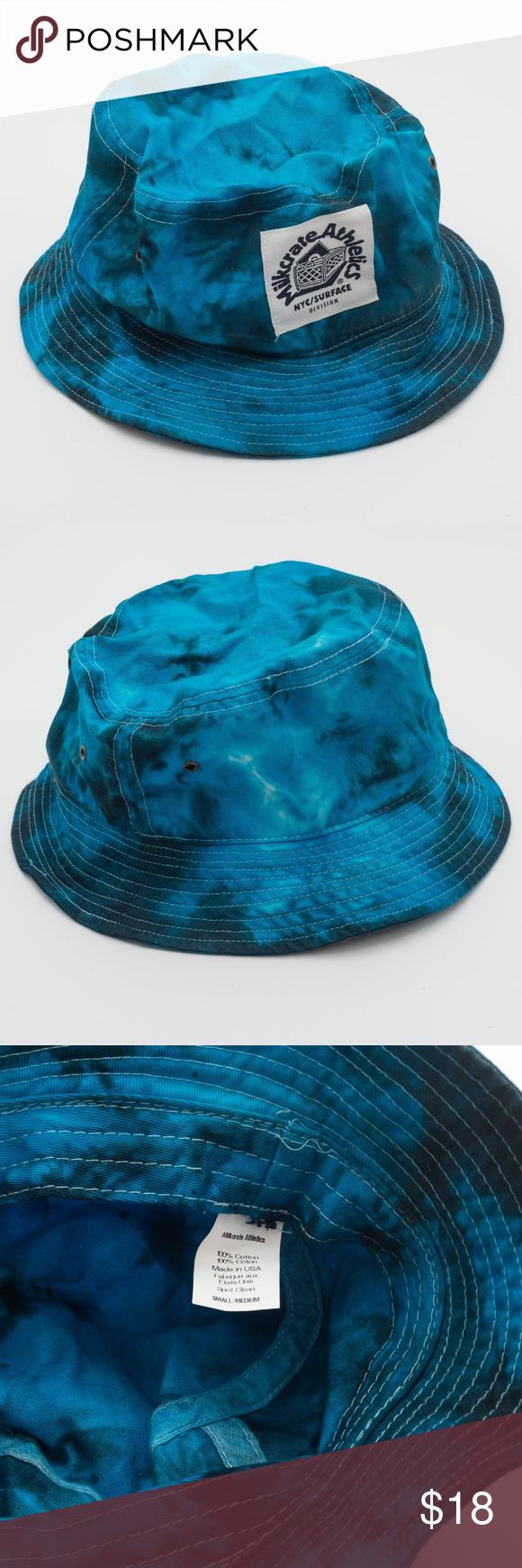 4c51cda7 Milkcrate Aesthetics Blue Tie Dye Bucket Hat, UO Milkcrate Aesthetics brand  from Urban Outfitters Blue Tie Dye wash with metal eyelets on each side  size S/M ...