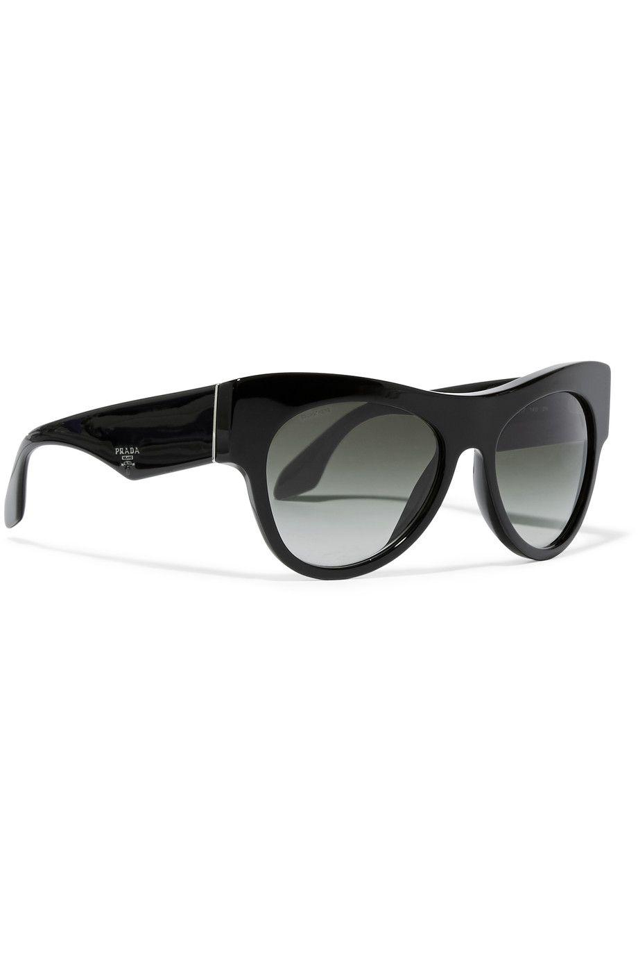 PRADA   Blak D-frame acetate sunglasses   UK   THE OUTNET   Eye ...