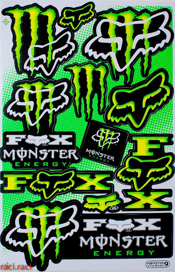 Green Monster Energy Claws Sticker Decal Supercross By Raciraci