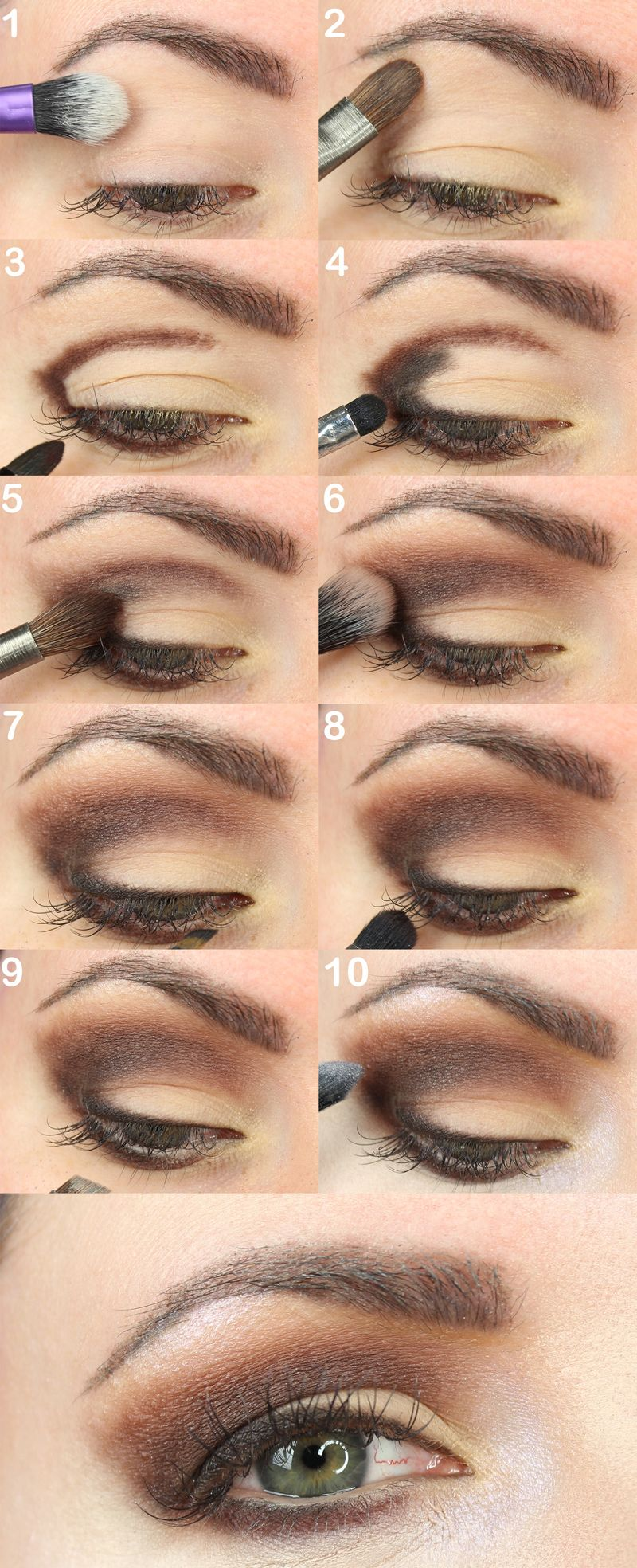3c4e226b2785 Urban Decay Naked Ultimate Basics Palette Tutorial. Courtney shares the eye  mapping technique to create a neutral brown everyday eyeshadow look for  hooded ...