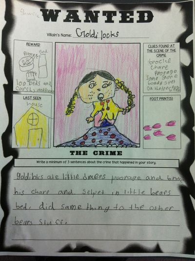 Student Gallery wanted posters fairy tales