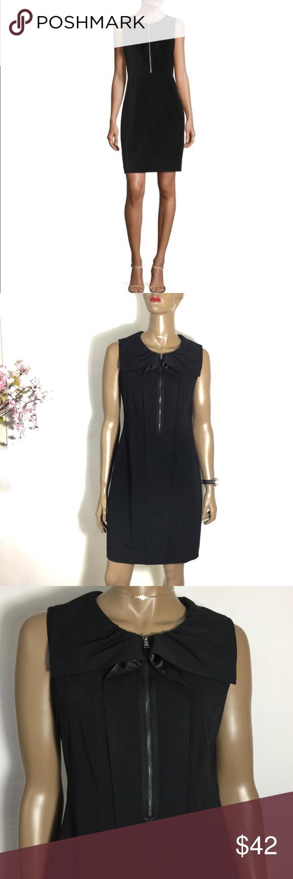 Elie Tahari Black Jadea Sleeveless Zip Front Dress Zip Front Dress Elie Tahari Dresses Clothes Design [ 1740 x 580 Pixel ]