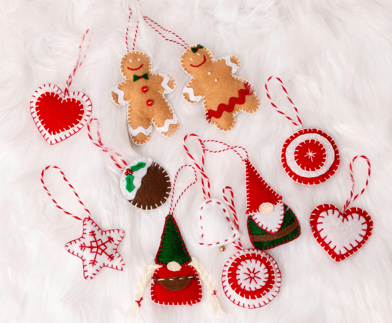 Easy Felt Christmas Ornaments Felt Decorations To Make Gnomes Diy Felt Christmas Ornaments Felt Ornaments Diy Christmas Ornaments Homemade