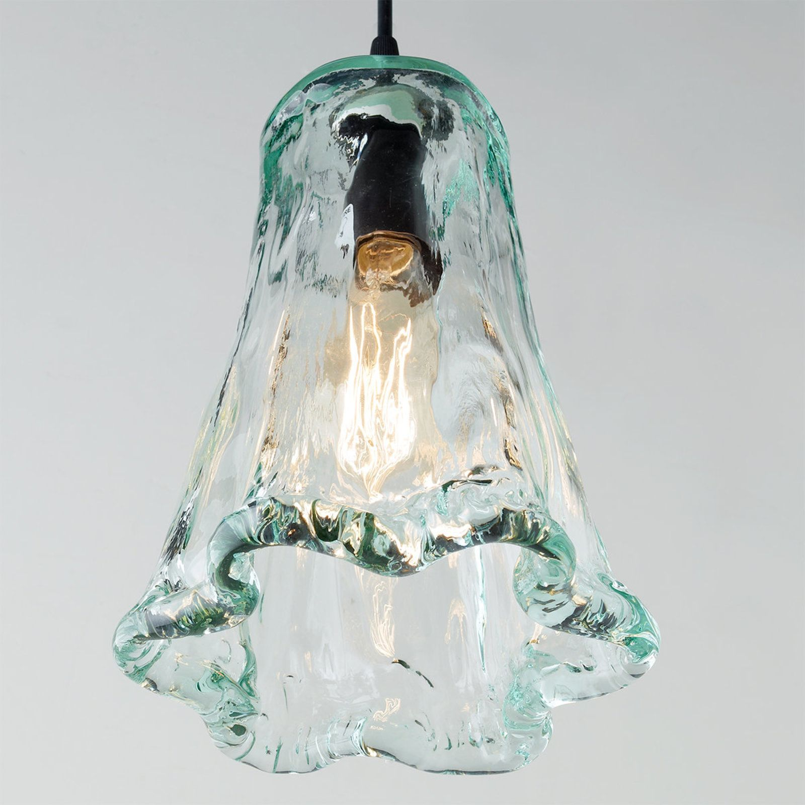 House Small Recycled Ruffle Gl Pendant Shades Of Light