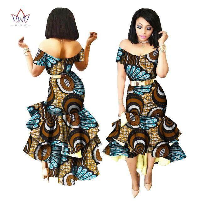 African Print Party Dashiki Dress African Fashion Clothing | Fashion ...