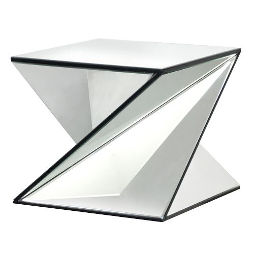 Exceptional Stunning Venetian Contemporary Mirrored Twist Side Table Modern Feature  Piece.