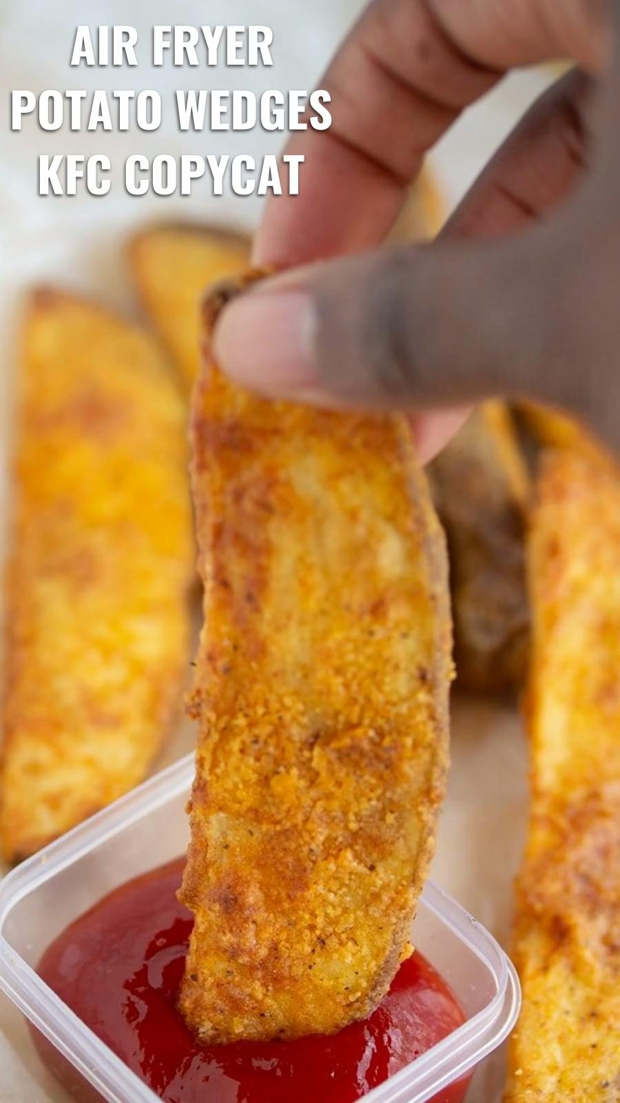 Air Fryer Potato Wedges (KFC Copycat) Recipe My