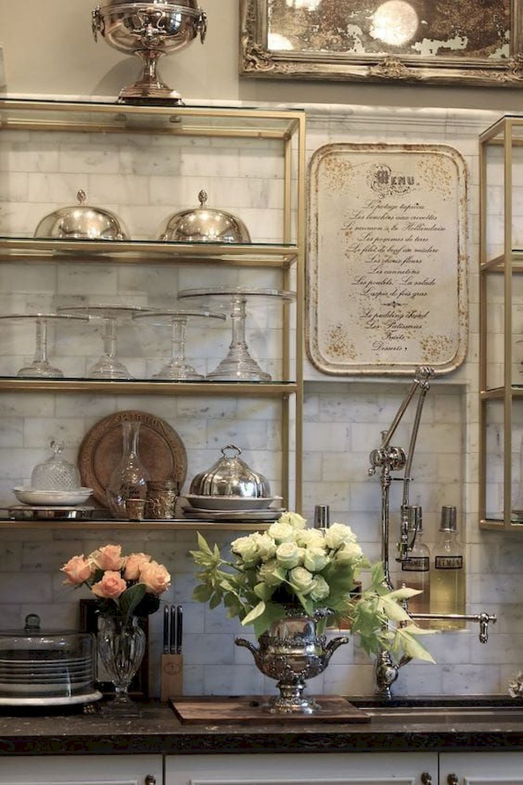 Photo of 65 Beautiful French Country Kitchen Decor Ideas – homixover.com