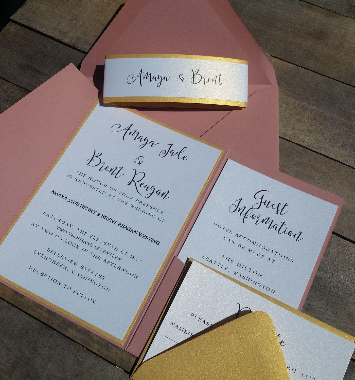 Wedding Invitation Suite Wedding Invitations Pocketfold Wedding