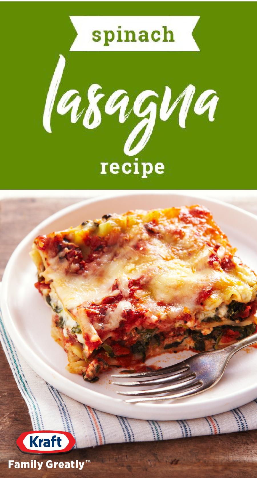 Spinach Lasagna Recipe Recipe Recipes Lasagna Recipe Spinach Lasagna