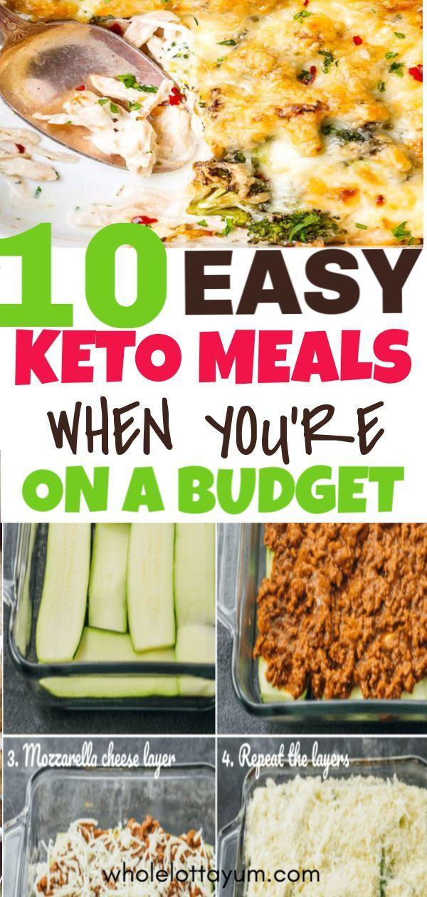 Einfache Keto-Mahlzeiten, die einfach und günstig sind - Pinterest Blog #easydinners