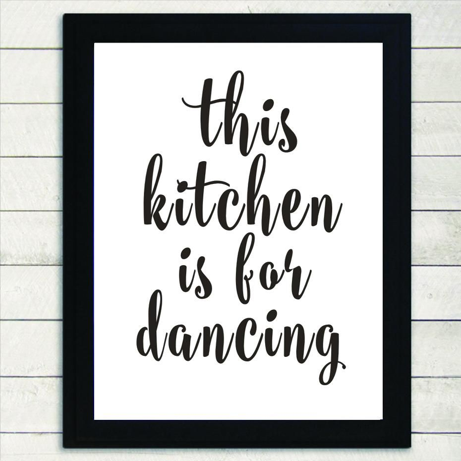 This Kitchen Is For Dancing Delightful Minimalist Black And White Canvas Print Wall Art Poster Paint Poster Wall Art Black And White Wall Art Wall Art Pictures