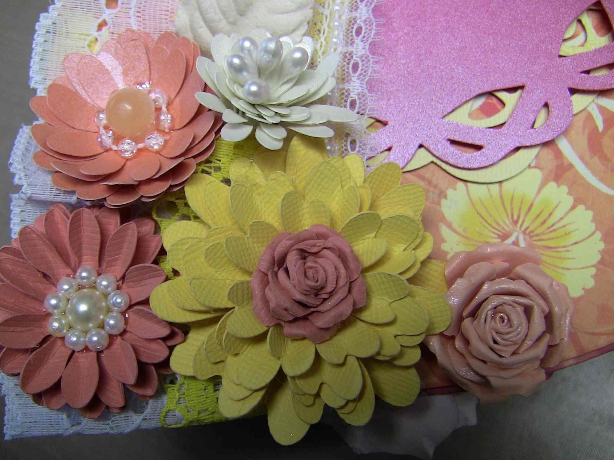 Simple Easy Paper Flower Tutorial Part 2 Tt 15 Pinterest