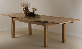 6Ft X 3Ft Natural Solid Oak Extending Dining Table Seats Up To 12 Beauteous Extendable Dining Room Sets Design Ideas