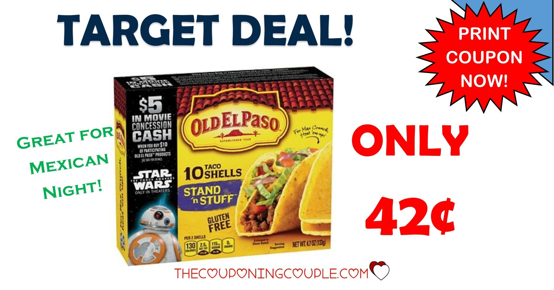 Old El Paso Coupons Hot Target Deal Taco Shells 0 42 Box Print Coupons Taco Stuffed Shells Target Deals