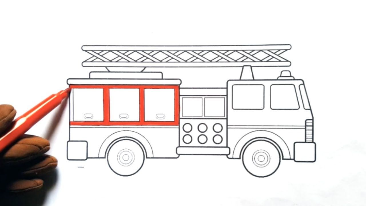 Fire Truck Coloring For Kids Fire Truck Coloring Page Coloring Pages Firetrucks Learning Col Coloring For Kids Fire Truck Coloring Page Coloring Pages