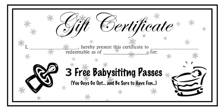 photograph about Printable Babysitting Coupon named printable babysitting coupon -