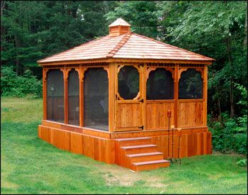 Customer S Photo Custom 12 X 16 Cedar Rectangular Gazebo Rectangular Gazebo Gazebo Backyard Gazebo